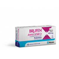 "BRUFEN ANALG, ""400 MG COMPRESSE RIVESTITE CON FILM""12 COMPRESSE IN BLISTER PVC/ACLAR/AL/VMCH"""