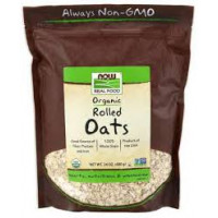 NOW REAL FOOD ORGANIC ROLLED OATS 680 gr