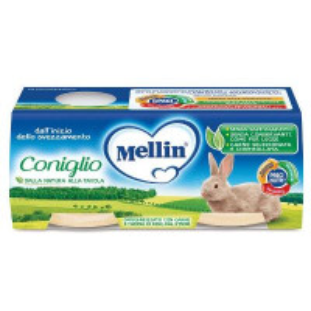MELLIN OMOG CONIGLIO 2X80G