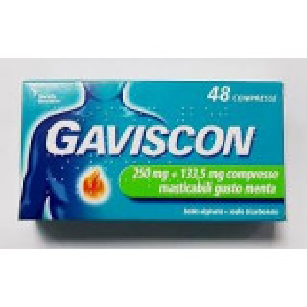 GAVISCON 250MG+133,5MG 48 COMPRESSE MASTICABILI MENTA