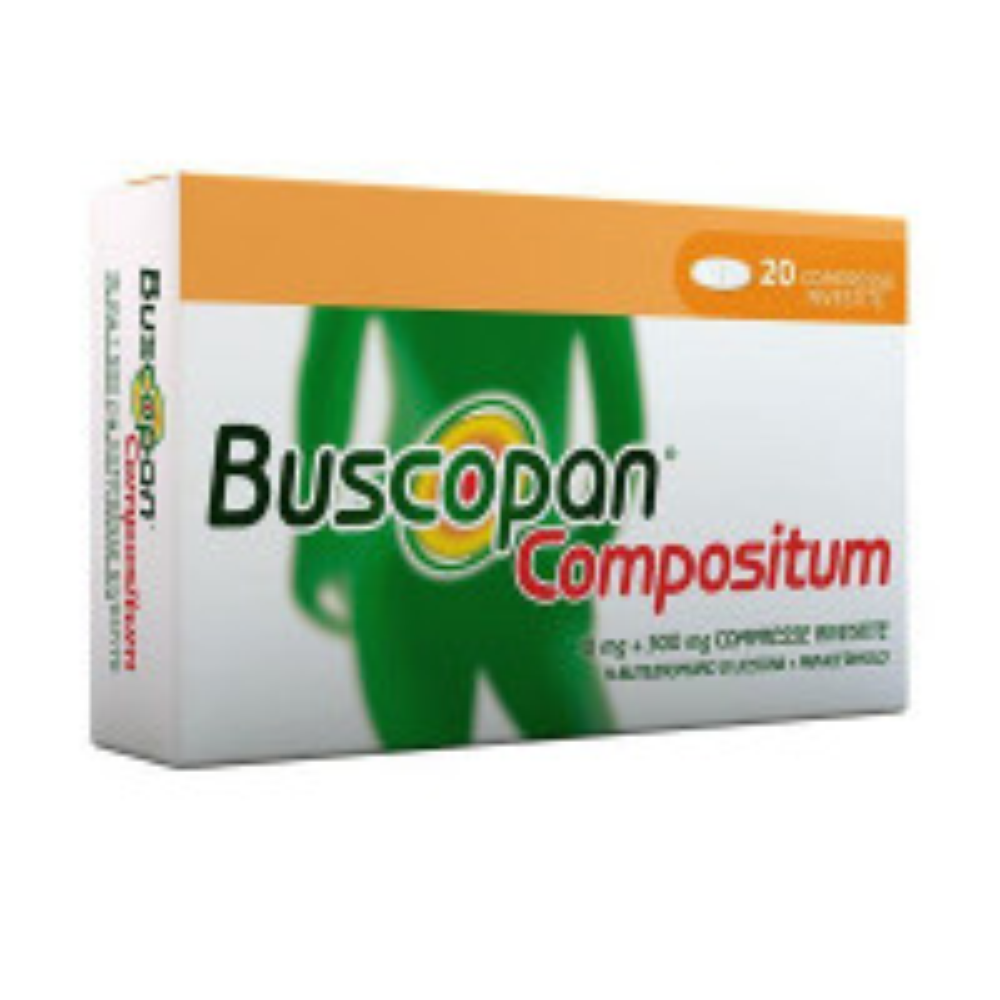 BUSCOPAN COMPOSIT, 10 MG + 500 MG COMPRESSE RIVESTITE 20 COMPRESSE IN BLISTER AL/PVC