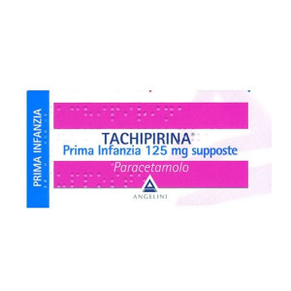 TACHIPIRINA PRIMA INF 125MG SUPP VIVAFARMACIA