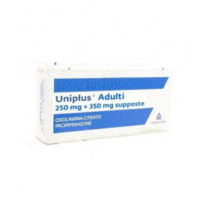 UNIPL, ADULTI 250 MG + 350 MG SUPPOSTE 10 SUPPOSTE